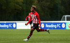 READING, ENGLAND - NOVEMBER 03: Enzo Robise scores during the under 18s Premier league match between Reading FC and Southampton FC, 2018 in Reading, England. (Photo by James Bridle - Southampton FC/Southampton FC via Getty Images)