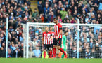 MANCHESTER, ENGLAND - NOVEMBER 04: Shane Long of Southampton after City score during the Premier League match between Manchester City and Southampton FC at Etihad Stadium on November 4, 2018 in Manchester, United Kingdom. (Photo by Matt Watson/Southampton FC via Getty Images)