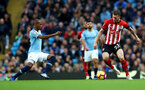 MANCHESTER, ENGLAND - NOVEMBER 04: Pierre-Emile Hojbjerg(R) of Southampton during the Premier League match between Manchester City and Southampton FC at Etihad Stadium on November 4, 2018 in Manchester, United Kingdom. (Photo by Matt Watson/Southampton FC via Getty Images)