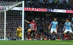 MANCHESTER, ENGLAND - NOVEMBER 04: City goalkeeper Ederson saves during the Premier League match between Manchester City and Southampton FC at Etihad Stadium on November 4, 2018 in Manchester, United Kingdom. (Photo by Matt Watson/Southampton FC via Getty Images)
