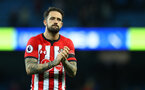 MANCHESTER, ENGLAND - NOVEMBER 04: Danny Ings of Southampton during the Premier League match between Manchester City and Southampton FC at Etihad Stadium on November 4, 2018 in Manchester, United Kingdom. (Photo by Matt Watson/Southampton FC via Getty Images)