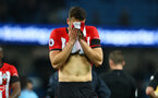 MANCHESTER, ENGLAND - NOVEMBER 04: Wesley Hoedt of Southampton during the Premier League match between Manchester City and Southampton FC at Etihad Stadium on November 4, 2018 in Manchester, United Kingdom. (Photo by Matt Watson/Southampton FC via Getty Images)