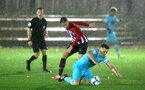 SOUTHAMPTON, ENGLAND - NOVEMBER 09: Will Smallbone (middle) during the Premier League 2 match between Southampton FC and Newcastle United pictured at Staplewood Complex on November 09, 2018 in Southampton, England. (Photo by James Bridle - Southampton FC/Southampton FC via Getty Images)