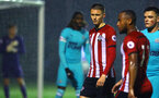 SOUTHAMPTON, ENGLAND - NOVEMBER 09: Will Smallbone (left) during the Premier League 2 match between Southampton FC and Newcastle United pictured at Staplewood Complex on November 09, 2018 in Southampton, England. (Photo by James Bridle - Southampton FC/Southampton FC via Getty Images)