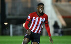 SOUTHAMPTON, ENGLAND - NOVEMBER 09: Jonathan Afolabi during the Premier League 2 match between Southampton FC and Newcastle United pictured at Staplewood Complex on November 09, 2018 in Southampton, England. (Photo by James Bridle - Southampton FC/Southampton FC via Getty Images)
