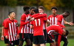 SOUTHAMPTON, ENGLAND - NOVEMBER 10: Will Ferry scores during the U18 Premier League match between Southampton FC and Stoke City FC pictured at Staplewood Complex on November 10, 2018 in Southampton, England. (Photo by James Bridle - Southampton FC/Southampton FC via Getty Images)