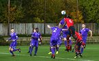 SOUTHAMPTON, ENGLAND - NOVEMBER 10: Allan Tchaptchet header during the U18 Premier League match between Southampton FC and Stoke City FC pictured at Staplewood Complex on November 10, 2018 in Southampton, England. (Photo by James Bridle - Southampton FC/Southampton FC via Getty Images)