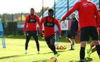 SOUTHAMPTON, ENGLAND - NOVEMBER 13: Alex Jankewitz (middle) during a Southampton FC training session at Staplewood Complex on November 13, 2018 in Southampton, England. (Photo by James Bridle - Southampton FC/Southampton FC via Getty Images)