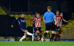 SOUTHEND, ENGLAND - NOVEMBER 14: Will Smallbone (middle) during the Checkatrade Trophy match between Southend United and Southampton FC U21s pictured at Roots Hall on November 14, 2018 in Southend, England. (Photo by James Bridle - Southampton FC/Southampton FC via Getty Images)