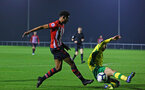 NORWICH, ENGLAND - NOVEMBER 23: Marcus Barnes (left) during the U23s PL2 match between Norwich City and Southampton FC pictured at Colney Training Ground on November 23, 2018 in Norwich, England. (Photo by James Bridle - Southampton FC/Southampton FC via Getty Images)