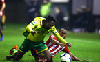 NORWICH, ENGLAND - NOVEMBER 23: Tyreke Johnson (right) during the U23s PL2 match between Norwich City and Southampton FC pictured at Colney Training Ground on November 23, 2018 in Norwich, England. (Photo by James Bridle - Southampton FC/Southampton FC via Getty Images)