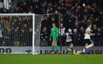 LONDON, ENGLAND - NOVEMBER 24: Fulham score during the Premier League match between Fulham FC and Southampton FC at Craven Cottage on November 24, 2018 in London, United Kingdom. (Photo by Matt Watson/Southampton FC via Getty Images)