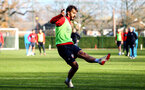 SOUTHAMPTON, ENGLAND - NOVEMBER 26: Manolo Gabbiadini during a first team training session at Staplewood Complex on November 26, 2018 in Southampton, England. (Photo by James Bridle - Southampton FC/Southampton FC via Getty Images)