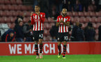 SOUTHAMPTON, ENGLAND - DECEMBER 01: Yan Valery(L) and Nathan Redmond of Southampton during the Premier League match between Southampton FC and Manchester United at St Mary's Stadium on December 1, 2018 in Southampton, United Kingdom. (Photo by Matt Watson/Southampton FC via Getty Images)