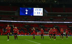 LONDON, ENGLAND - DECEMBER 05: Southampton  players acknowledge theor fans during the Premier League match between Tottenham Hotspur and Southampton FC at Tottenham Hotspur Stadium on December 5, 2018 in London, United Kingdom. (Photo by Matt Watson/Southampton FC via Getty Images)