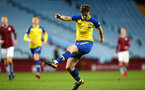BIRMINGHAM, ENGLAND - DECEMBER 07: Will Ferry (middle) during the match between Aston Villa FC and Southampton FC pictured at Villa Park Stadium  on December 7, 2018 in Birmingham, England. (Photo by James Bridle - Southampton FC/Southampton FC via Getty Images)