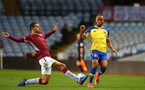 BIRMINGHAM, ENGLAND - DECEMBER 07: Tyreke Johnson (right) during the match between Aston Villa FC and Southampton FC pictured at Villa Park Stadium  on December 7, 2018 in Birmingham, England. (Photo by James Bridle - Southampton FC/Southampton FC via Getty Images)