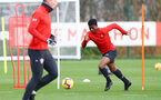 SOUTHAMPTON, ENGLAND - DECEMBER 12: Nathan Tella during a Southampton FC training session at the Staplewood Campus on December 12, 2018 in Southampton, England. (Photo by Matt Watson/Southampton FC via Getty Images)