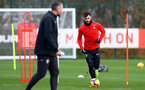 SOUTHAMPTON, ENGLAND - DECEMBER 12: Charlie Austin during a Southampton FC training session at the Staplewood Campus on December 12, 2018 in Southampton, England. (Photo by Matt Watson/Southampton FC via Getty Images)