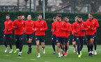 SOUTHAMPTON, ENGLAND - DECEMBER 14: players warm up during a Southampton FC training session at the Staplewood Campus on December 14, 2018 in Southampton, England. (Photo by Matt Watson/Southampton FC via Getty Images)