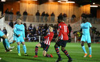 SOUTHAMPTON, ENGLAND - DECEMBER 14: Will Smallbone (middle) scores for Southampton FC during the U23s PL2 match between Southampton FC and Newcastle United pictured at Staplewood Training Ground on December 14, 2018 in Southampton England. (Photo by James Bridle - Southampton FC/Southampton FC via Getty Images)