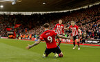 SOUTHAMPTON, ENGLAND - DECEMBER 16: Danny Ings of Southampton celebrates after scoring during the Premier League match between Southampton FC and Arsenal FC at St Mary's Stadium on December 15, 2018 in Southampton, United Kingdom. (Photo by Matt Watson/Southampton FC via Getty Images)