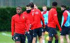SOUTHAMPTON, ENGLAND - DECEMBER 19: Michael Obafemi (left) during a Southampton FC training session at Staplewood Complex on December 19, 2018 in Southampton, England. (Photo by James Bridle - Southampton FC/Southampton FC via Getty Images)