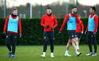 SOUTHAMPTON, ENGLAND - DECEMBER 19: Pierre-Emile Højbjerg (middle) at Staplewood Complex on December 19, 2018 in Southampton, England. (Photo by James Bridle - Southampton FC/Southampton FC via Getty Images)