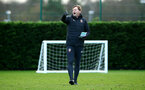 SOUTHAMPTON, ENGLAND - DECEMBER 19: Ralph Hasenhuttl (middle) at Staplewood Complex on December 19, 2018 in Southampton, England. (Photo by James Bridle - Southampton FC/Southampton FC via Getty Images)