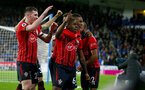 HUDDERSFIELD, ENGLAND - DECEMBER 22:  Michael Obafemi of Southampton celebrates during the Premier League match between Huddersfield Town and Southampton FC at John Smith's Stadium on December 22, 2018 in Huddersfield, United Kingdom. (Photo by Matt Watson/Southampton FC via Getty Images)