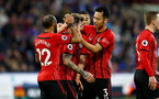 HUDDERSFIELD, ENGLAND - DECEMBER 22: Danny Ings(centre) of Southampton celebrates with team mates during the Premier League match between Huddersfield Town and Southampton FC at John Smith's Stadium on December 22, 2018 in Huddersfield, United Kingdom. (Photo by Matt Watson/Southampton FC via Getty Images)