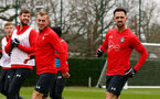 SOUTHAMPTON, ENGLAND - DECEMBER 25: Danny Ings(R) during a Southampton FC training session at the Staplewood Campus on December 25, 2018 in Southampton, England. (Photo by Matt Watson/Southampton FC via Getty Images)