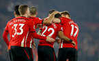 SOUTHAMPTON, ENGLAND - DECEMBER 27:  Nathan Redmond is congratulated by his team mates during the Premier League match between Southampton FC and West Ham United at St Mary's Stadium on December 27, 2018 in Southampton, United Kingdom. (Photo by Matt Watson/Southampton FC via Getty Images)