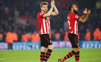 SOUTHAMPTON, ENGLAND - DECEMBER 27:  Stuart Armstrong and Nathan Redmond during the Premier League match between Southampton FC and West Ham United at St Mary's Stadium on December 26, 2018 in Southampton, United Kingdom. (Photo by Chris Moorhouse/Southampton FC via Getty Images)
