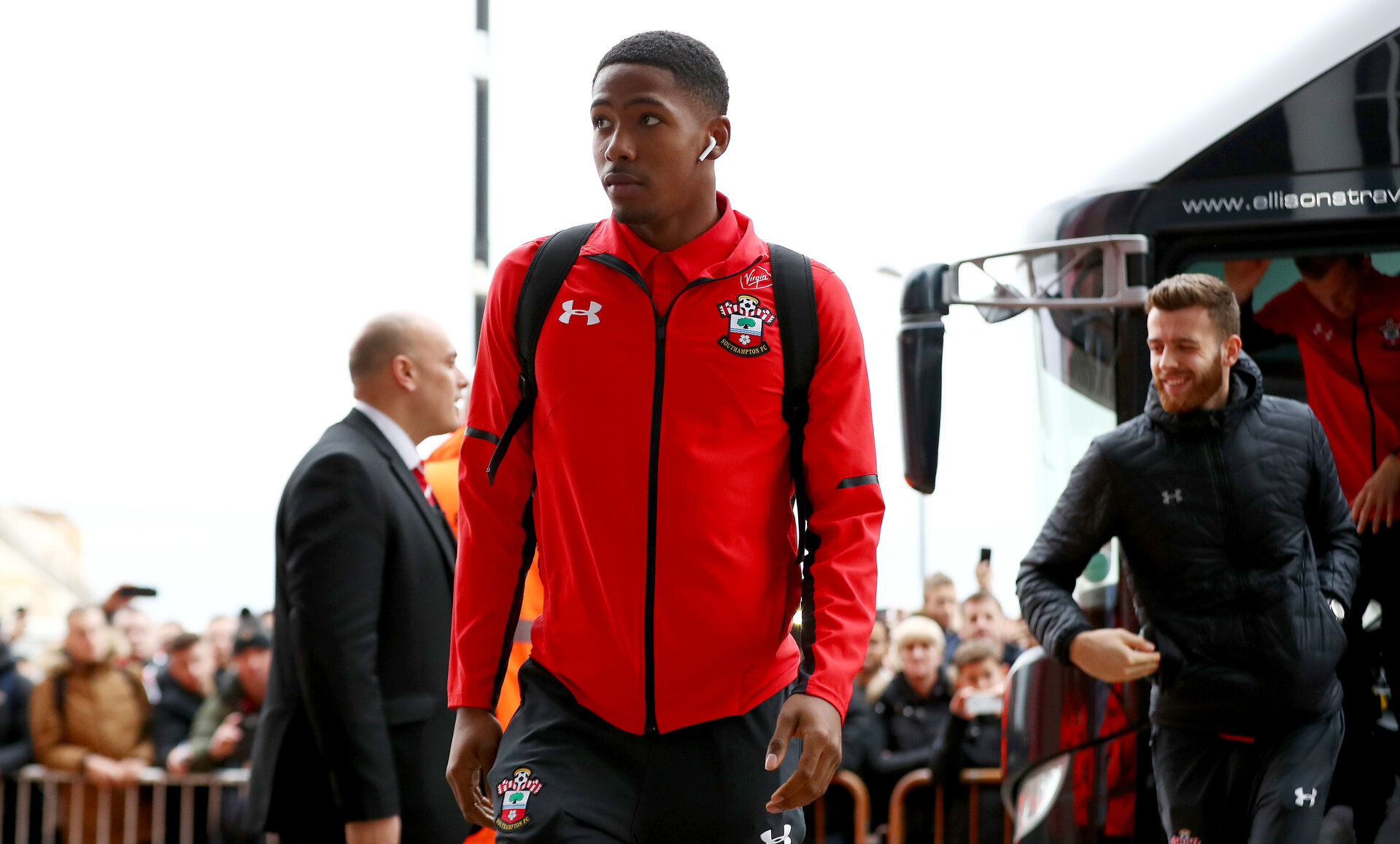 SOUTHAMPTON, ENGLAND - DECEMBER 30: Kayne Ramsay of Southampton ahead of the Premier League match between Southampton FC and Manchester City at St Mary's Stadium on December 30, 2018 in Southampton, United Kingdom. (Photo by Matt Watson/Southampton FC via Getty Images)