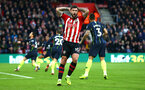 SOUTHAMPTON, ENGLAND - DECEMBER 30: Charlie Austin reacts to a near miss on goal during the Premier League match between Southampton FC and Manchester City at St Mary's Stadium on December 30, 2018 in Southampton, United Kingdom. (Photo by James Bridle - Southampton FC/Southampton FC via Getty Images)