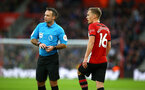 SOUTHAMPTON, ENGLAND - DECEMBER 30: James Ward-Prowse (right) lines up for a freekick during the Premier League match between Southampton FC and Manchester City at St Mary's Stadium on December 30, 2018 in Southampton, United Kingdom. (Photo by James Bridle - Southampton FC/Southampton FC via Getty Images)