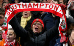 LONDON, ENGLAND - JANUARY 02: Southampton fans during the Premier League match between Chelsea FC and Southampton FC at Stamford Bridge on January 02, 2019 in London, United Kingdom. (Photo by Matt Watson/Southampton FC via Getty Images)