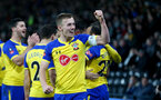 DERBY, ENGLAND - JANUARY 05: James Ward-Prowse of Southampton celebrates during the FA Cup Third Round match between Derby County and Southampton FC at Pride Park on January 05, 2019 in Derby, United Kingdom. (Photo by Matt Watson/Southampton FC via Getty Images)