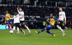 DERBY, ENGLAND - JANUARY 05: Nathan Redmond of Southampton shoots at goal during the FA Cup Third Round match between Derby County and Southampton FC at Pride Park on January 05, 2019 in Derby, United Kingdom. (Photo by Matt Watson/Southampton FC via Getty Images)