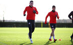 SOUTHAMPTON, ENGLAND - JANUARY 08: Pierre-Emile Hojbjerg during a Southampton FC training session at the Staplewood Campus on January 08, 2019 in Southampton, England. (Photo by Matt Watson/Southampton FC via Getty Images)