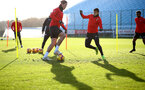 SOUTHAMPTON, ENGLAND - JANUARY 08: Jannik Vestergaard(L) and Mohamed Elyounoussi during a Southampton FC training session at the Staplewood Campus on January 08, 2019 in Southampton, England. (Photo by Matt Watson/Southampton FC via Getty Images)