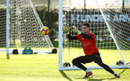 SOUTHAMPTON, ENGLAND - JANUARY 09:  Harry lewis makes a save during a Southampton FC training session at Staplewood Training Ground on January 09, 2019 in Southampton, United Kingdom. (Photo by James Bridle - Southampton FC/Southampton FC via Getty Images)