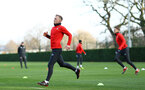 James Ward-Prowse during a Southampton FC training session at the Staplewood Campus, Southampton, 11th January 2019