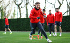 Jannik Vestergaard during a Southampton FC training session at the Staplewood Campus, Southampton, 11th January 2019