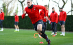 Oriol Romeu during a Southampton FC training session at the Staplewood Campus, Southampton, 11th January 2019
