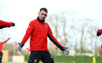 Pierre-Emile Hojbjerg during a Southampton FC training session at the Staplewood Campus, Southampton, 11th January 2019