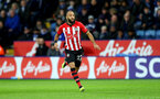 LEICESTER, ENGLAND - JANUARY 12: Nathan Redmond of Southampton during the Premier League match between Leicester City and Southampton FC at The King Power Stadium on January 12, 2019 in Leicester, United Kingdom. (Photo by Matt Watson/Southampton FC via Getty Images)