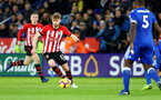 LEICESTER, ENGLAND - JANUARY 12: Stuart Armstrong of Southampton during the Premier League match between Leicester City and Southampton FC at The King Power Stadium on January 12, 2019 in Leicester, United Kingdom. (Photo by Matt Watson/Southampton FC via Getty Images)