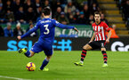 LEICESTER, ENGLAND - JANUARY 12: Cedric Soares(R) of Southampton during the Premier League match between Leicester City and Southampton FC at The King Power Stadium on January 12, 2019 in Leicester, United Kingdom. (Photo by Matt Watson/Southampton FC via Getty Images)
